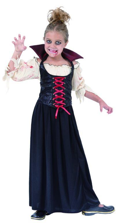 Karnevalový kostým Vampírka 130 - 140cm