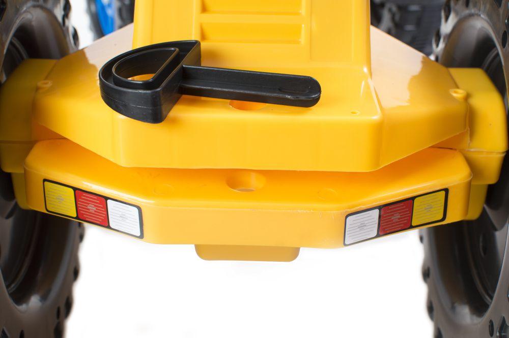 Šlapací traktor G21 Classic s bagrem a vlečkou žluto/modrý