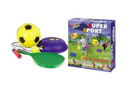 Hrací set G21 Míč fotbalový a tenisový s raketou na provázku