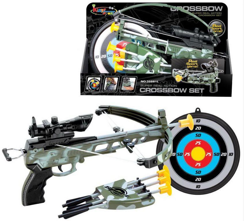 Hrací set G21 Kuše pistolová s terčem, maskáčová