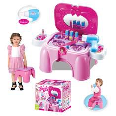 Hrací set G21 Kosmetický stolek malý s příslušenstvím, sedátko