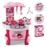 G21 Dětská kuchyňka Malá kuchařka s příslušenstvím růžová