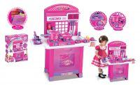 G21 Superior Dětská kuchyňka s příslušenstvím růžová
