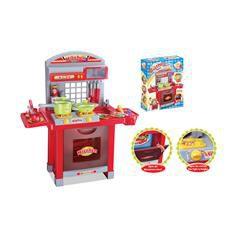 Dětská kuchyňka G21 Superior s příslušenstvím červená
