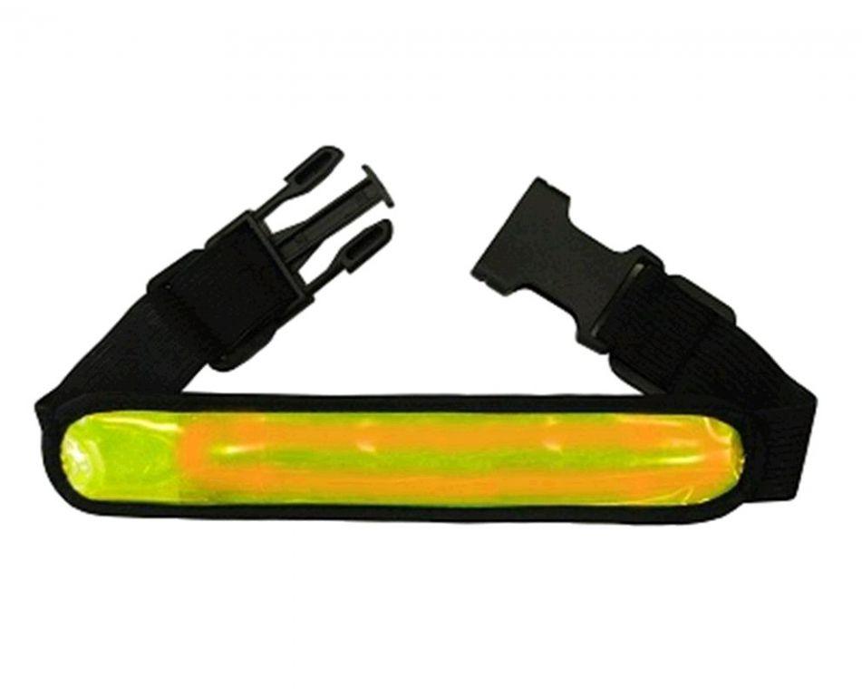 Reflexní LED pásek žlutá s přezkou