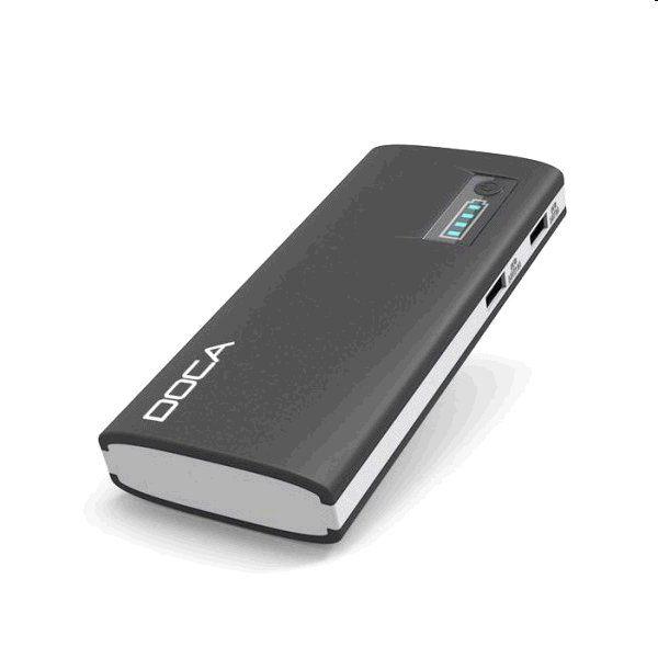 Powerbank DOCA D566 13000mAh - černá