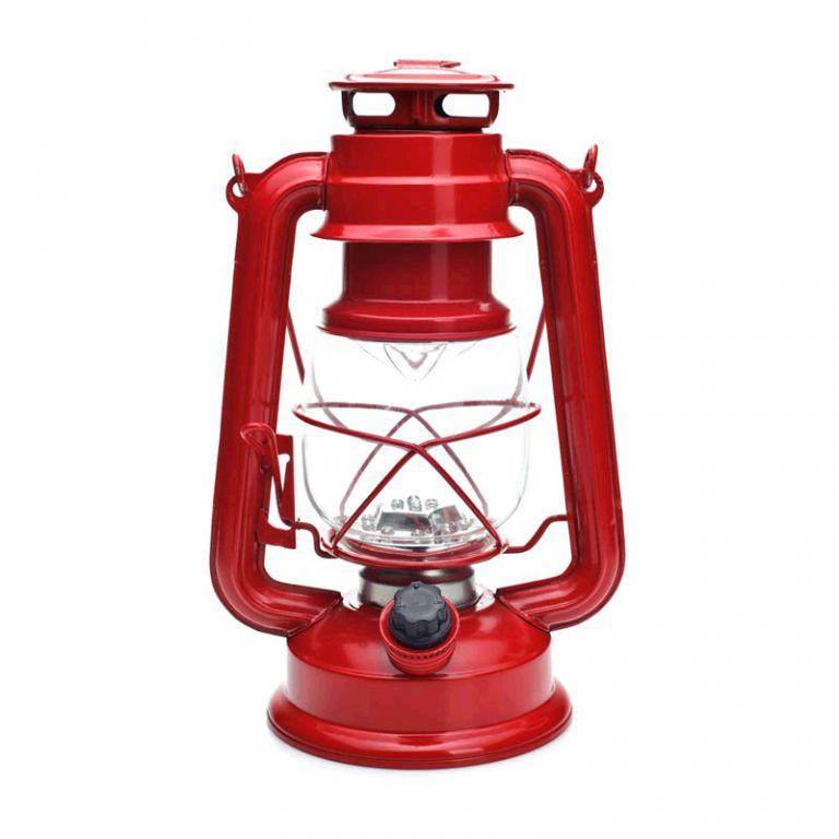 LED svítilna MacTronic RETRO kempingová - červená