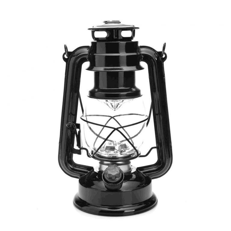 LED lampa MacTronic RETRO kempingová - černá