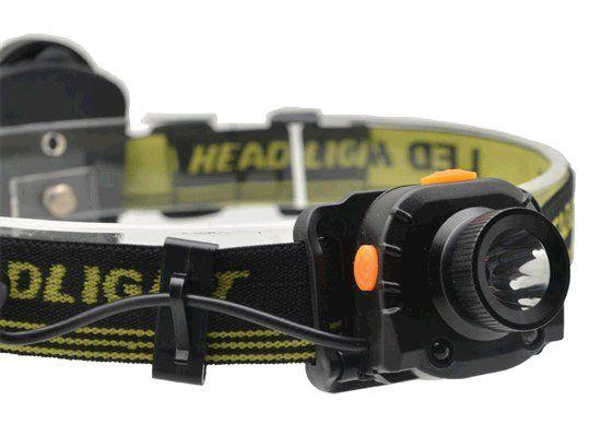 LED čelovka Solight WH20 svítilna se senzorem, 3W Cree, černá, 3 x AAA