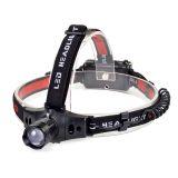 LED čelovka Solight WH18 3W Cree LED, černočervená, 3 x AAA