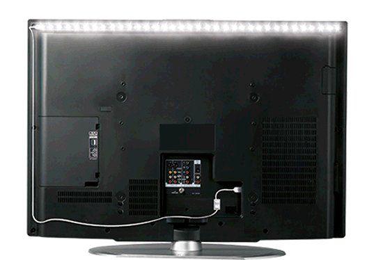 LED pásek Solight WM501 náladové osvětlení, napájení z USB 100 cm s vypínačem, studená bílá