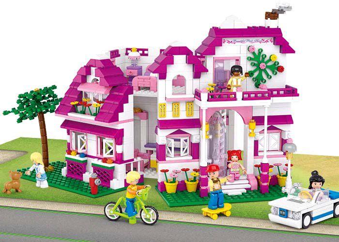 Stavebnice Sluban Girls Dream Luxusní vila, 726 dílků