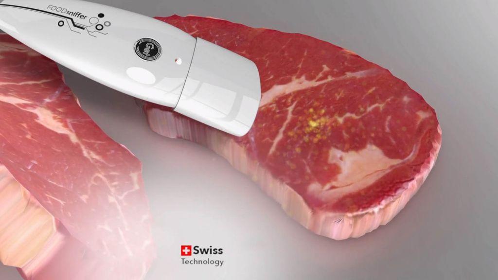 Detektor FOODsniffer na čerstvost masa, bílý