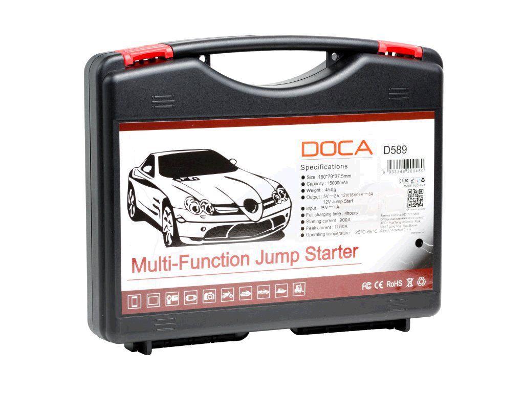 Powerbank DOCA D589 15000 mAh, auto start, umí dobít i NTB - zelená