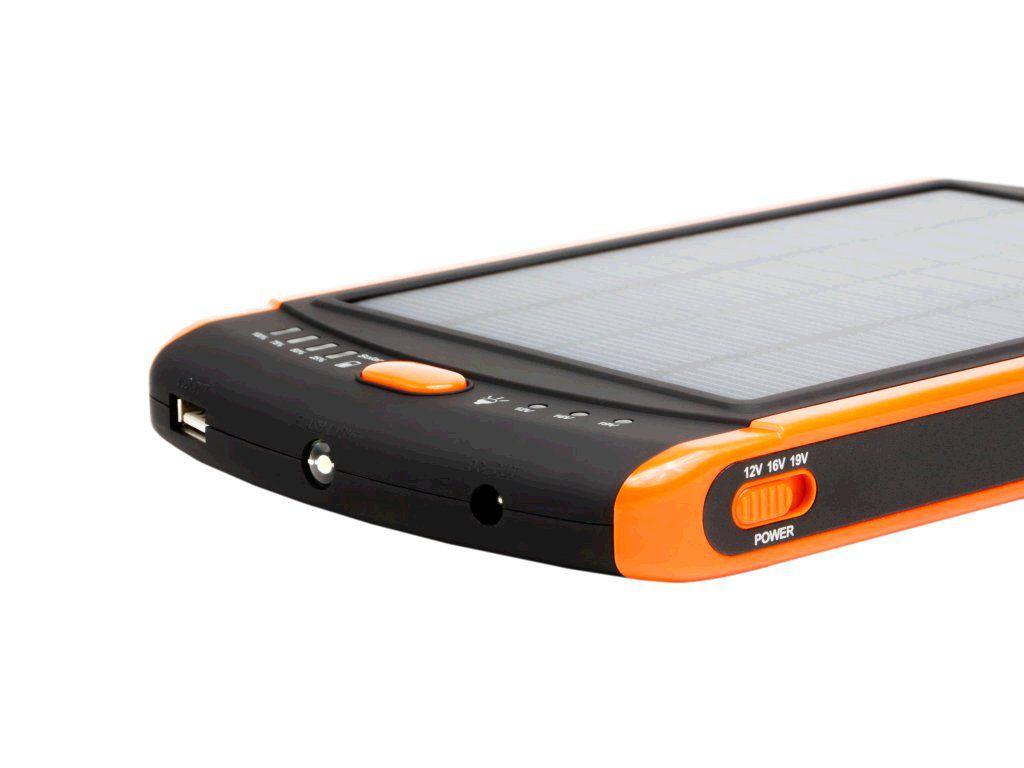 Powerbank DOCA Solar 23 23000 mAh, solární panel, umí nabít i NTB
