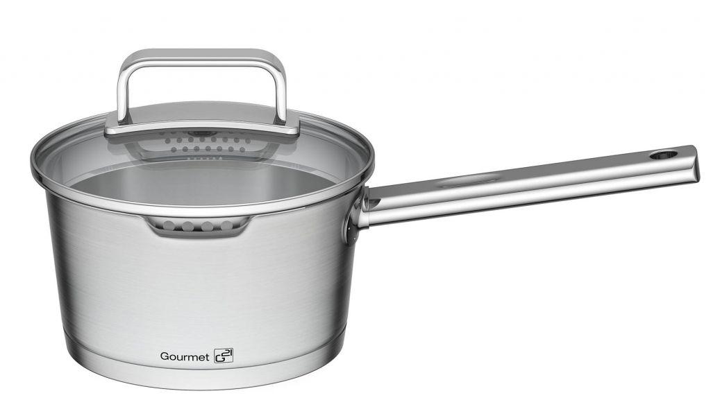 Sada nádobí G21 Gourmet Magic s cedníkem, nerez - 9 dílů