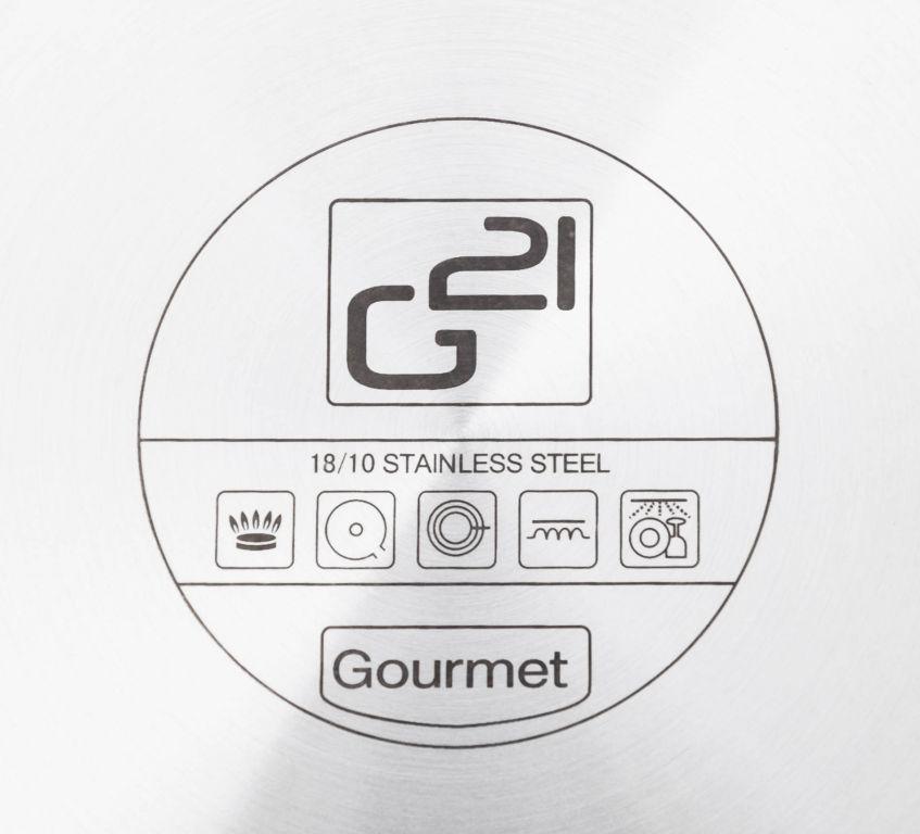 Pánev G21 Gourmet Magic s poklicí, nerez - 28 cm