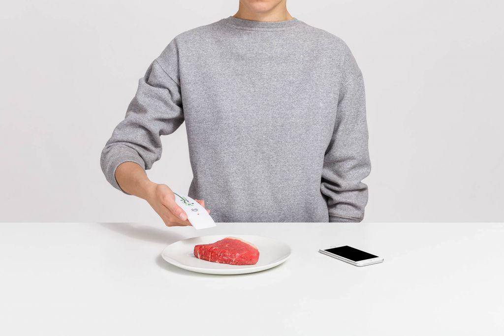Detektor FOODsniffer na čerstvost masa, bílý - ROZBALENO