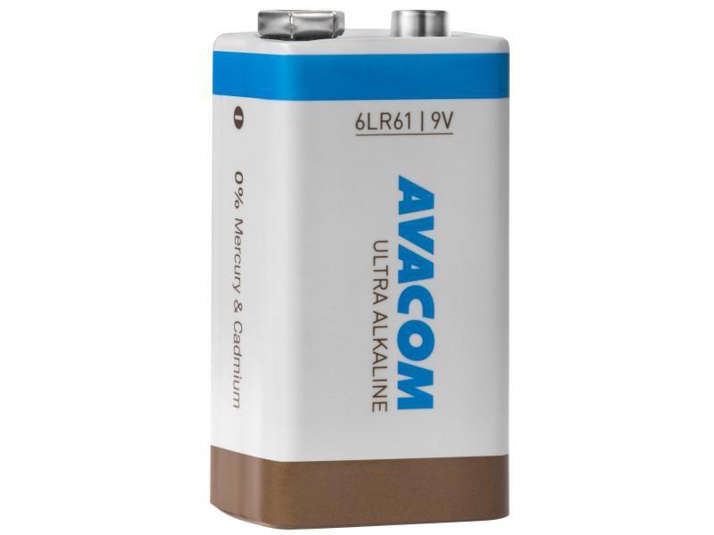 Baterie Avacom Ultra Alkaline 9V - nenabíjecí