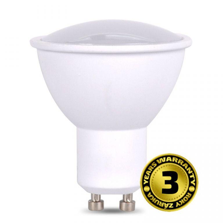 Žárovka Solight WZ324 bodová , 5W, GU10, 6000K, 400lm, studená bílá