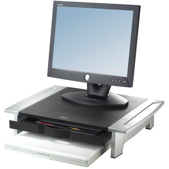 Stojan Fellowes Office Suites STANDARD pod monitor, notebook, 5 pozic výšky, černo-stříbrný