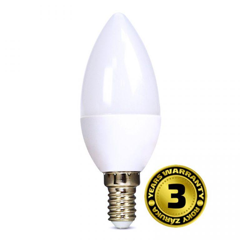 Žárovka Solight LED WZ421 svíčka, 6W, E14, 6000K, 450lm, studená bílá
