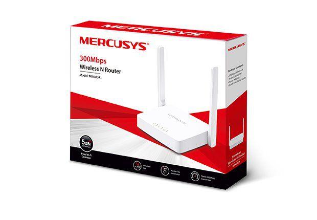 WiFi router TP-Link MERCUSYS MW305R AP/router, 4x LAN, 1x WAN, 2,4GHz 300Mbps
