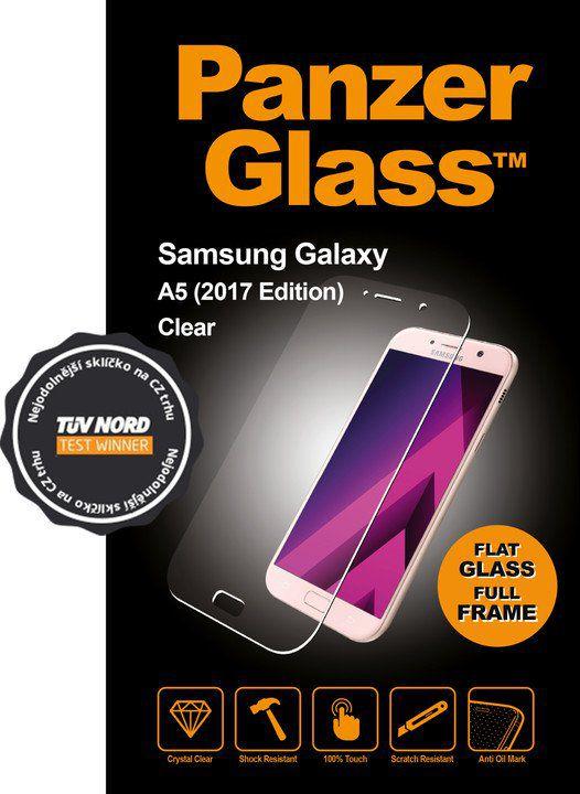 Tvrzené sklo PanzerGlass Edge-to-Edge pro Samsung Galaxy A5 (2017) čiré