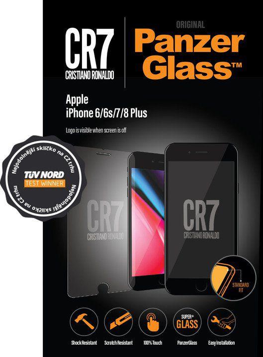 Tvrzené sklo PanzerGlass Standard pro Apple iPhone 6/6s/7/8 Plus čiré CR7