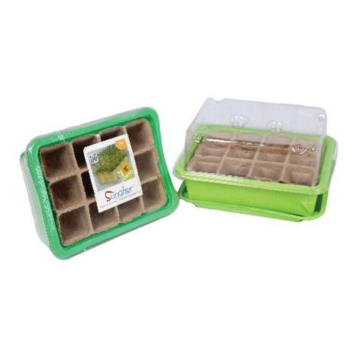 Minipařeniště + deska sadbová rašelin. 12 polí (3sady)