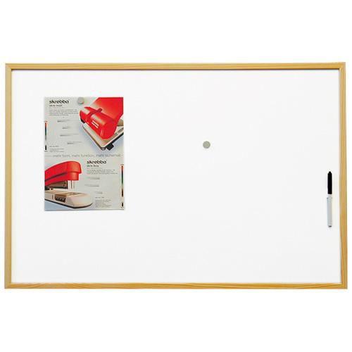 Tabule magnetická Eco board 60x90cm, lakovaný povrch, dřevený rám