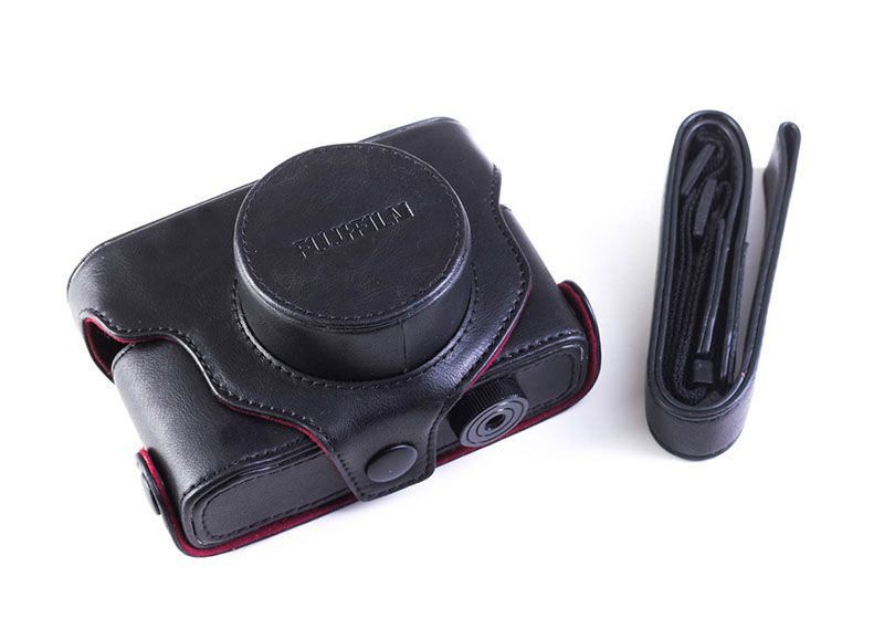 Pouzdro Fujifilm X Leather case Black k X-10