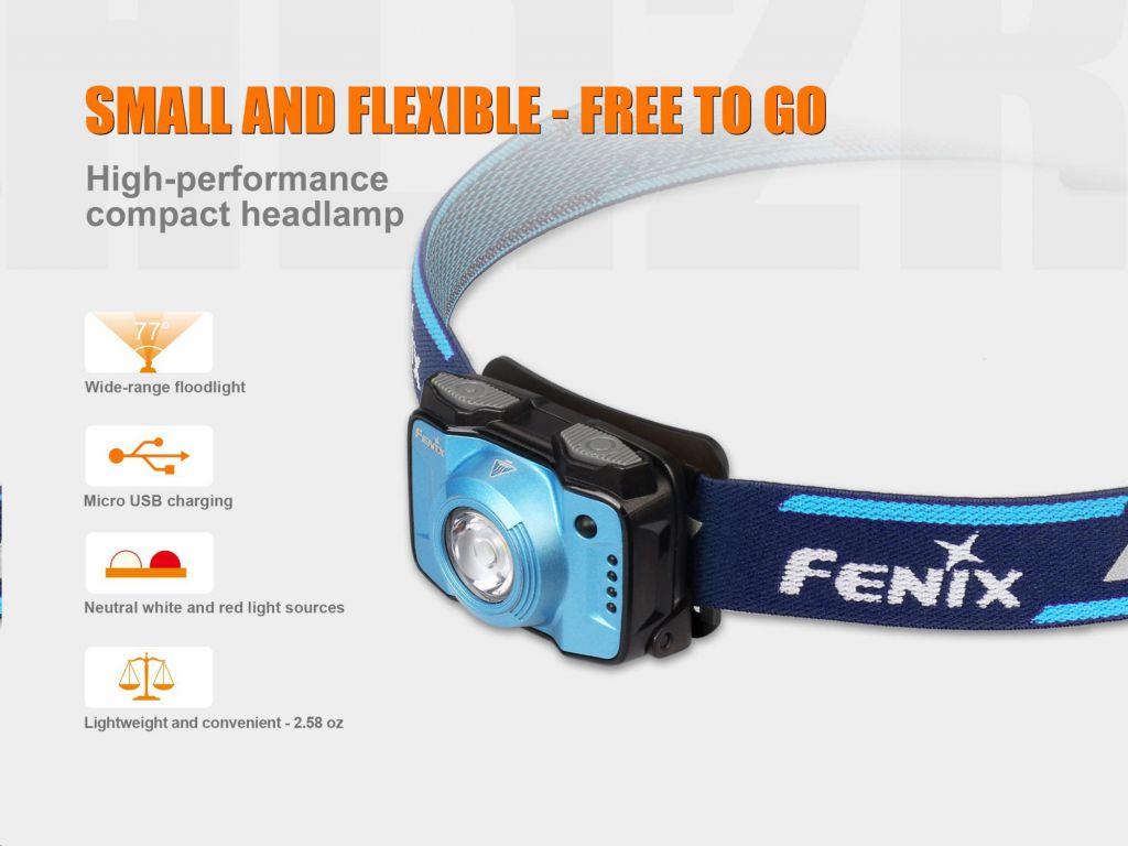 Fenix HL12R LED čelovka interní baterie, fialová
