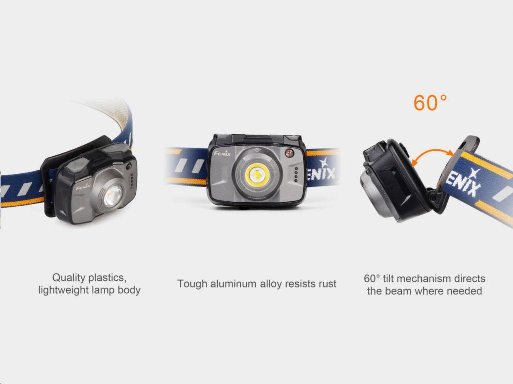 LED čelovka Fenix HL32R interní baterie, šedá