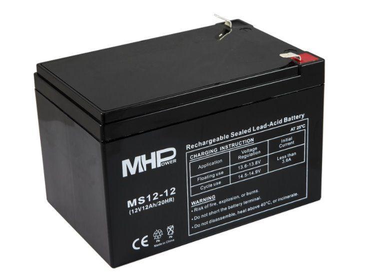 Baterie MHPower MS12-12 VRLA AGM 12V/12Ah