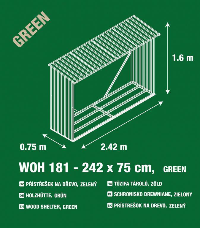 Zahradní přístřešek na dřevo  G21