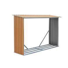 Přístřešek na dřevo  G21 WOH 181 - 242 x 75 cm, hnědý