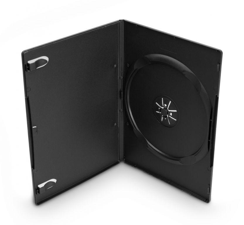 Obal 1 DVD 9mm slim černý - karton 100ks