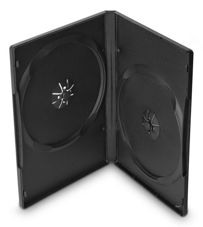 Obal 2 DVD 14mm černý - karton 100ks
