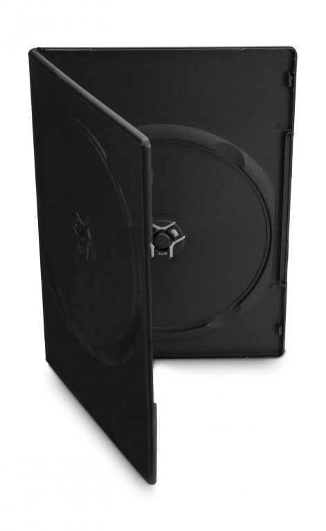 Obal 2 DVD 7mm slim černý 10ks/bal