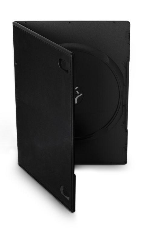Obal 1 DVD 7mm slim černý 10ks/bal