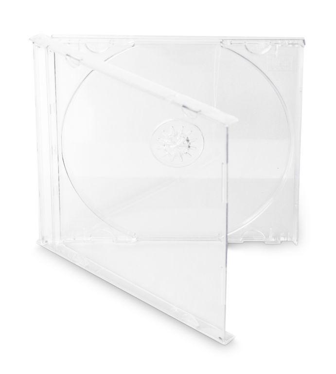 Obal 1 CD 10mm jewel box + tray čirý 10ks/bal