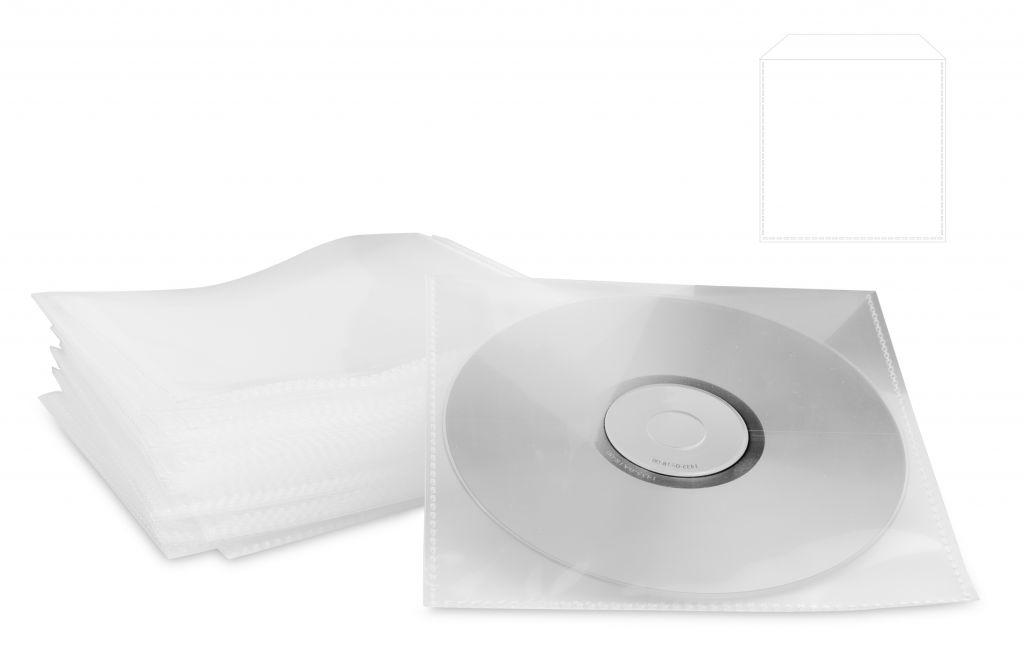 Obal PP s klipem na CD/DVD 100ks/bal