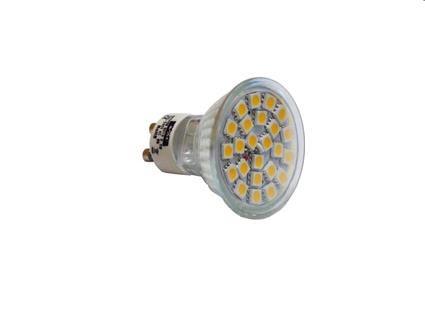 Žárovka Lumenmax LED AR24SM-WW G5.3/MR16 24 SMD, 12V, 4W, 320lm, teplá bílá