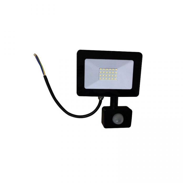 Reflektor Lumenmax LED FL20-SL-PIR venkovní s PIR čidlem, 20W, 1640lm, AC 230V, 6000K, černý