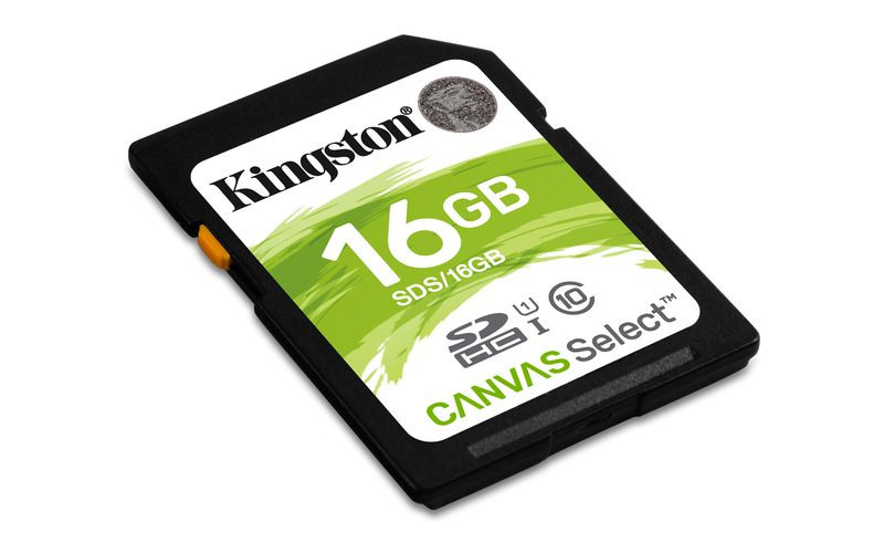 Paměťová karta Kingston SDHC Canvas Select CL10 UHS-I 16GB, 80R