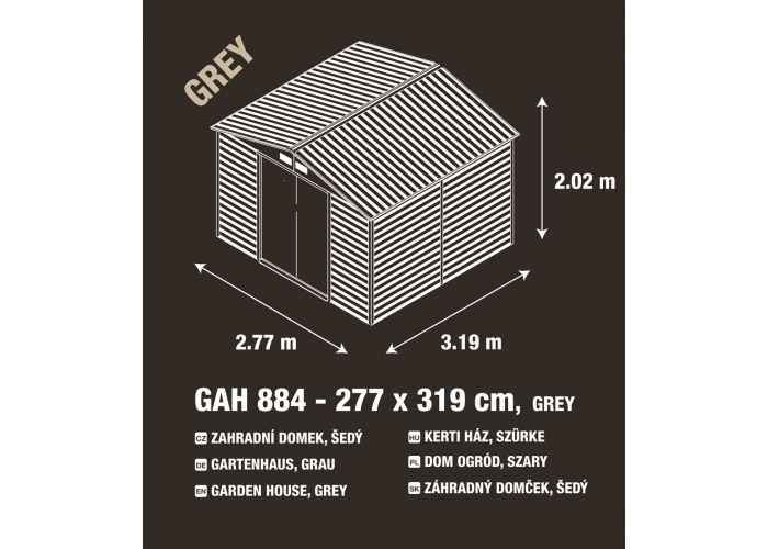 Zahradní domek G21 GAH 884 - 277 x 319 cm, šedý - POŠKOZENÝ OBAL