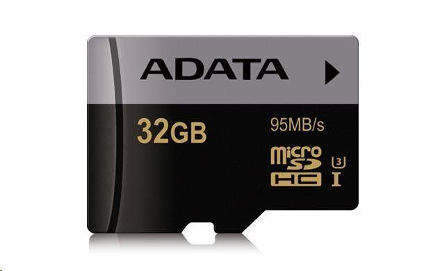 Adata Premier Pro Paměťová karta Micro SDHC 32GB UHS-I U3, (R:95MB)