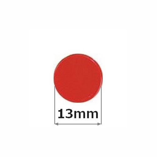 Sada magnetů ARTA průměr 13mm, červené, 10ks