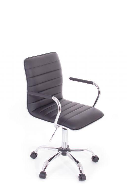 Kancelářské křeslo G21 Elegance koženkové, prošívané black